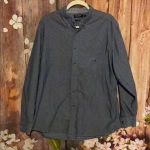 Nautica blue button up men's shirt size XL